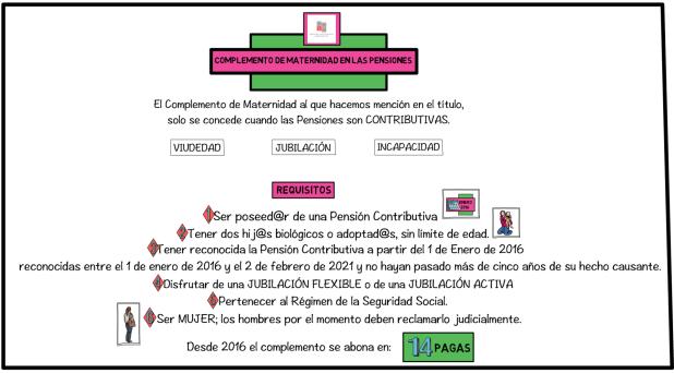 COMPLEMENTO DE MATERNIDAD EN LAS PENSIONES, ABOGADO INCAPACIDAD PERMANENTE, RECLAMAR INVALIDEZ.